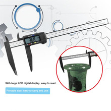 Lightweight 200MM Carbon Fiber Plastic LCD Digital Display Electronic Vernier Caliper Gauge Micrometer Measuring Tool