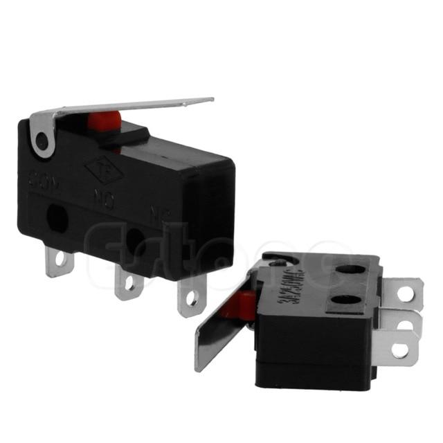 2PCS 3A AC C+NO+NC Micro Limit Sensor Switch Roller Arm Lever Subminiature m18