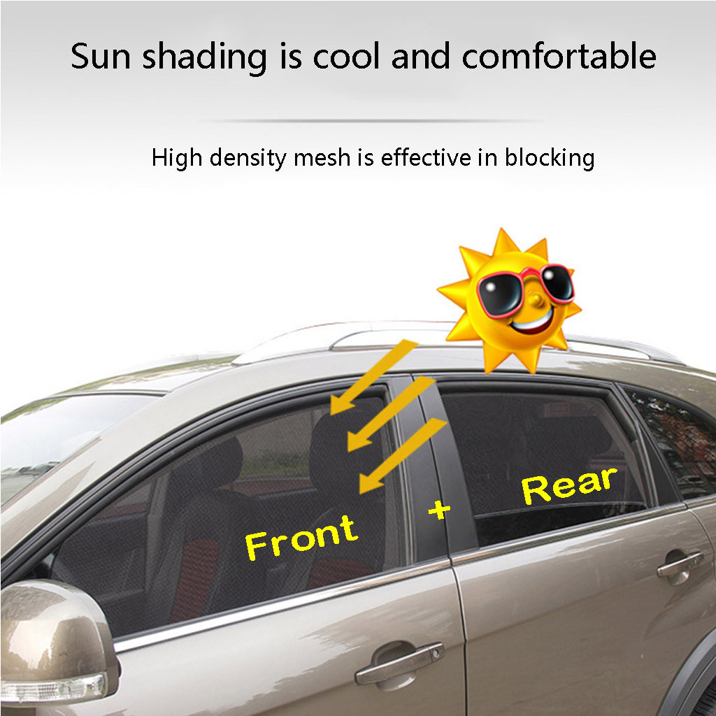 Rear Window 1 Pc ZaCoo Car Side Window Sunshades Mesh Magnetic Car Curtains for Cars SUV Truck