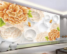 beibehang Wall Sticker 3d Wallpaper Romantic fashion flower butterfly Background Modern Silk Art Mural Living Room wallpaper