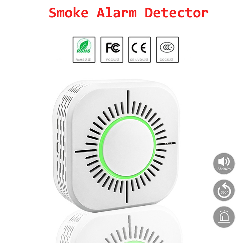 Wireless Smoke Fire Alarm Detector High Sensitive Stable Independent Security Protection Mist Sensor For Home Office Outdoor