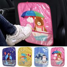 Anti-kick Children Car Seat Back Cover Protector for Kids Children Baby Kick Mat Anti Mud Dirt Portective Cover Car Accessories 1pc car safety seat back cover protector kids kick clean mat pad anti stepped dirty