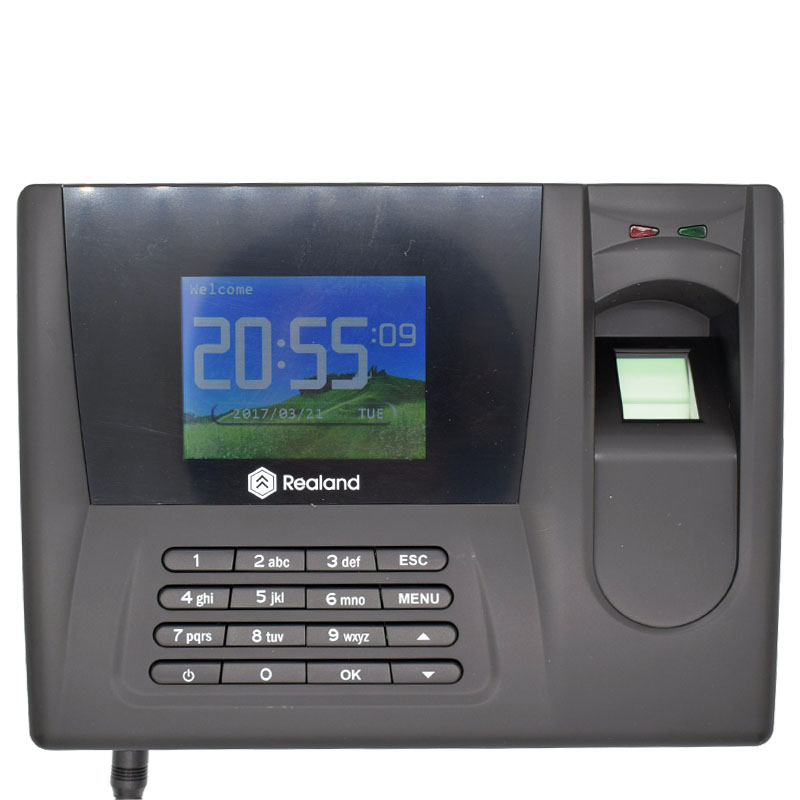 Realand 2.8 Inch Screen AC-021 USB TCP/IP Fingerprint Time Attendance Machine