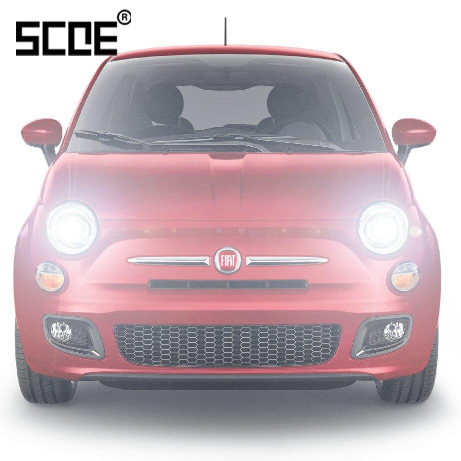For Fiat 500 500C 500L Doblo Ducato Idea Linea SCOE 2PCS Auto Low Beam Super Halogen Bulb Headlight Car Styling Warm White