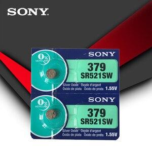 5 шт. для SONY часы батарея 1,55 V 379 SR521SW D379 SR63 V379 AG0 Серебряная оксидная Кнопка монет батареи сделаны в Японии