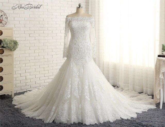 Vestido de casamento sereia Neueste Off the Shoulder Brautkleider ...