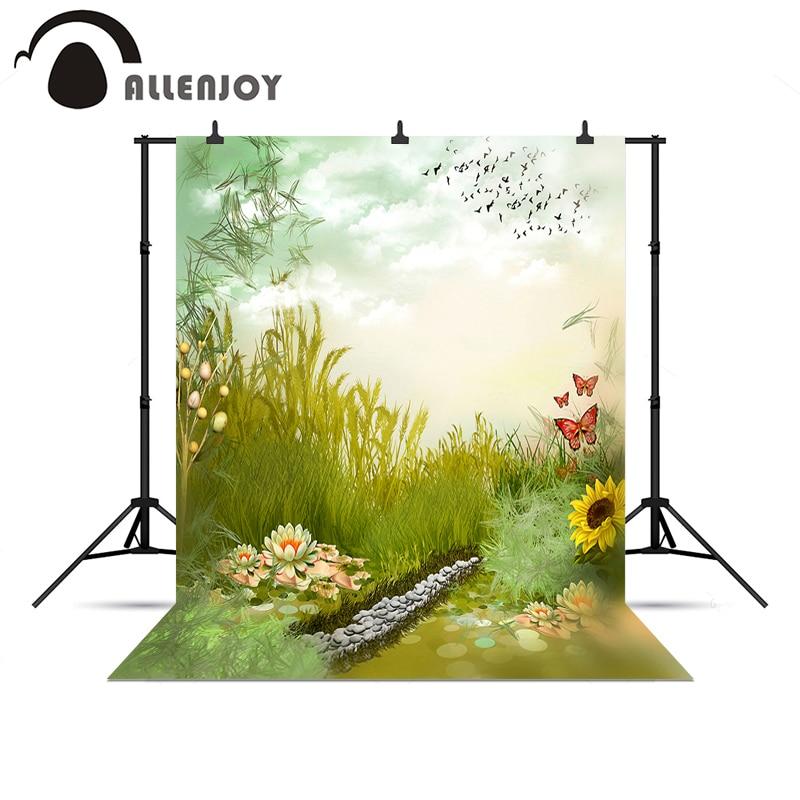 Allenjoy foto de fondo Campo flor mariposa libre naturaleza fondo - Cámara y foto