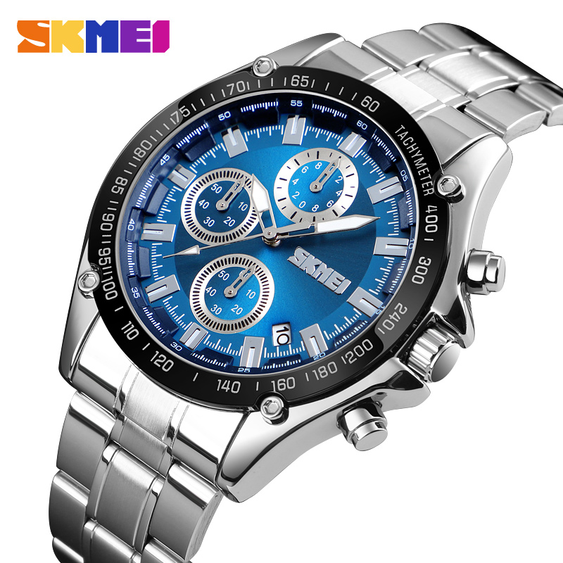 Top Brand Men Quartz Watch Waterproof Stopwatch Chronograph Sports Wristwatches Fashion Men's Business Watches Montre Homme 2019 image