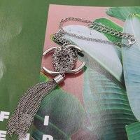 Богемное ожерелье с буквенными подвесками металлическое длинное ожерелье для женщин свитер пальто ожерелье падение ожерелье 2019 новые модн...