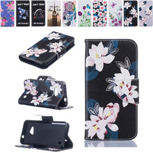 Luxury Flowers Leather Flip Phone case sFor Microsoft Nokia Lumia 550/650 Painted 3D Cartoon PU+Silicone Wallet Back Cover Funda