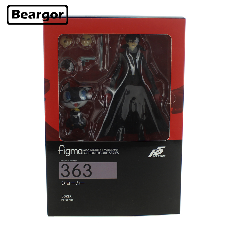 6 Persona 5 Shujinkou et Morgana Joker Figma 363 Mobile En Boîte 15 cm PVC Action Figure Collection Modèle Poupée jouets Cadeau