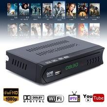 1080P EU Plug DVB-S2 HD TV Receiver Digital Satellite IPTV Combo TV Set Top Box Receiver Support USB WIFI Mayitr