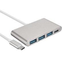 4 Port Tragbare OTG HUB USB Splitter Typ C USB 3.1 Adapter Hubs USB 3.0 Multiport Für Macbook Air Laptop PC Tablet