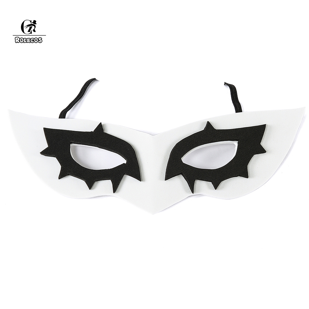 ROLECOS Store ROLECOS New Anime/Game Persona 5 P5 Hero Joker Protagonist Cosplay Masks Props Party Carnival Halloween White Eye Face Accessory