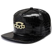 Skateboard-Box Snapback Pu-Hats Full-Cap Five-Rings Black American Metal Fashion Mark-Star