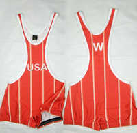 Wrestling Singlet USA 1988 Olympic Singlet Stripe Ventage Skinny Tights Tank Top Weight Lifting One-Piece Youth Wrestling Gear