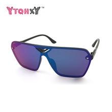 Nuevo de Las Mujeres gafas de Sol Sin Montura Femenina Personalidad de La Marca Original Marco Cuadrado Diseñador gafas de Sol UV400 gafas de sol de Espejo Y142