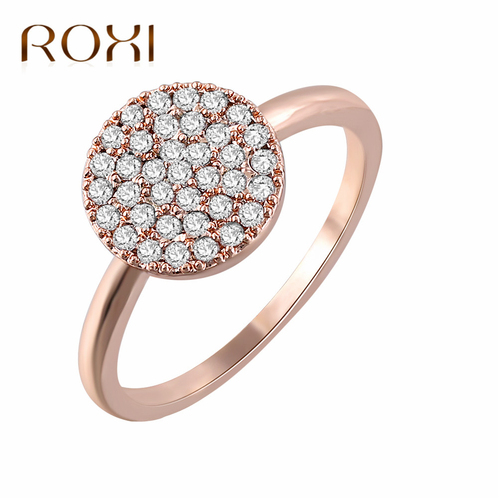 96ad9c1fc CZ Wedding Crystal Rose Gold Color Rings for Women Engagement Cubic  Zirconia Ring Bijoux Jewelry anillos. US $1.12. (2). 4 orders. ROXI Gold  Stud Earrings ...