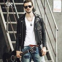 Men's leather Jacket Genuine sheepskin Dusen Klein Brand Luxury Casual style Rivet leather coat 61U8151