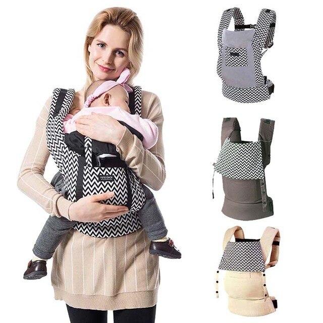 Mochilas ergonómicas para bebé de 5 a 36 meses portatil para bebé de algodón papá
