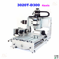 NO Shipping Cnc Router LY 3020T D300 4 Axis Milling Machine With 300w Spindle