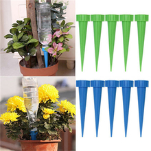 JETTING 4Pcs/lot Automatic Garden Cone Watering Spike Plant Flower Waterers Bottle Irrigation System Random Colors Wholesale