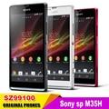 Telefones celulares desbloqueado original para sony xperia sp m35h c5302 c5303 3g android wi-fi gps 4.6 câmera ''8mp frete grátis