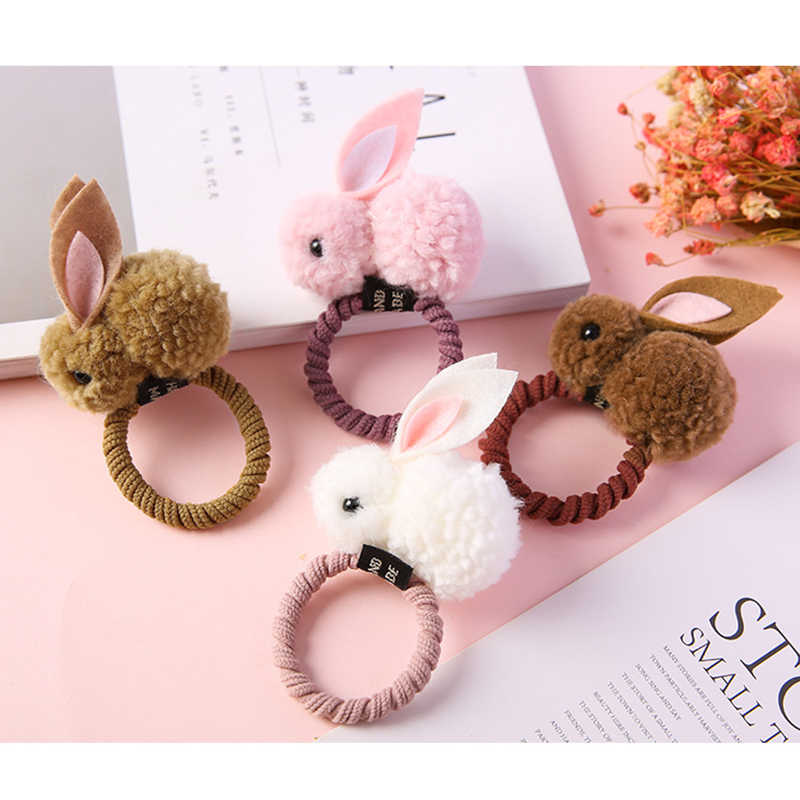 Cute Easter Rabbit Design Hair Bands Felt Three-Dimensional Plush Rabbit Ears Headband For Children Girls Easter Party Supplies