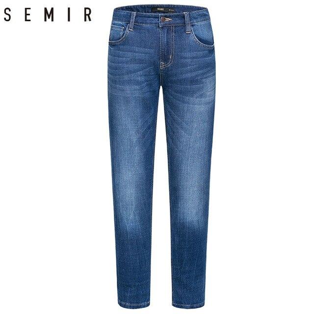 5f5cd41c1 SEMIR vaqueros hombres slim fit pantalones vaqueros clásicos masculinos  denim jeans Pantalones rectos ocasionales Pantalones rectos