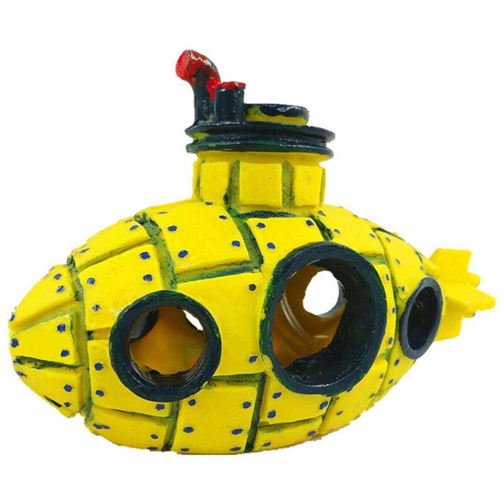 Submarine Wreck Yellow Bubble Whale No. Abandoned Hole Decoration