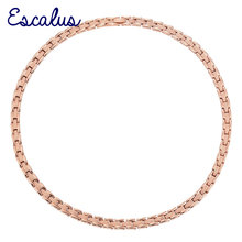 Escalus Frauen Edelstahl Germanium Halskette Magnet Rose Gold Farbe Infar Rote Damen Magnetische Schmuck Krawatte Charme