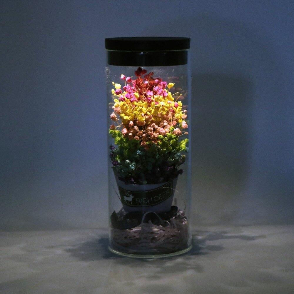 Flor artificial de cristal de rosa para decoración del hogar de la boda de flores frescas de la cubierta del Día de San Valentín - 5