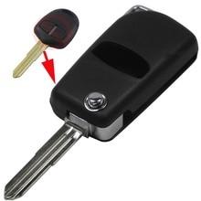 Новый Стиль 2 Кнопки Пустой Изменения Флип Складные Дистанционного Ключа Автомобиля Чехол Для Mitsubishi Outlander С Левой лопатке s750 С Логотипом