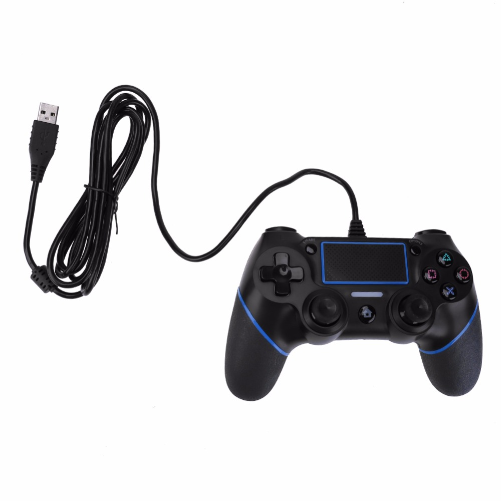 VODOOL USB Wired Joypad Wired Game Controller for PlayStation 4 Console Joystick For Microsoft PC for