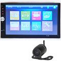 NOVA 7012B 7 polegada HD 1080 P Bluetooth Touchscreen Double-DIN MP5/MP4 Player Do Carro Receptor de Rádio FM + E306 18mm Câmera do CCD Da Cor