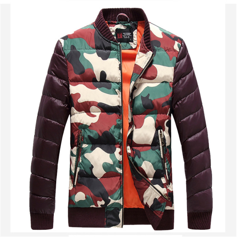 Men Casual Camouflage Jacket And Coats Brand Design Winter Plus Size Snow Warm Parkas Slim Fit  Down Wadded Coats F1813