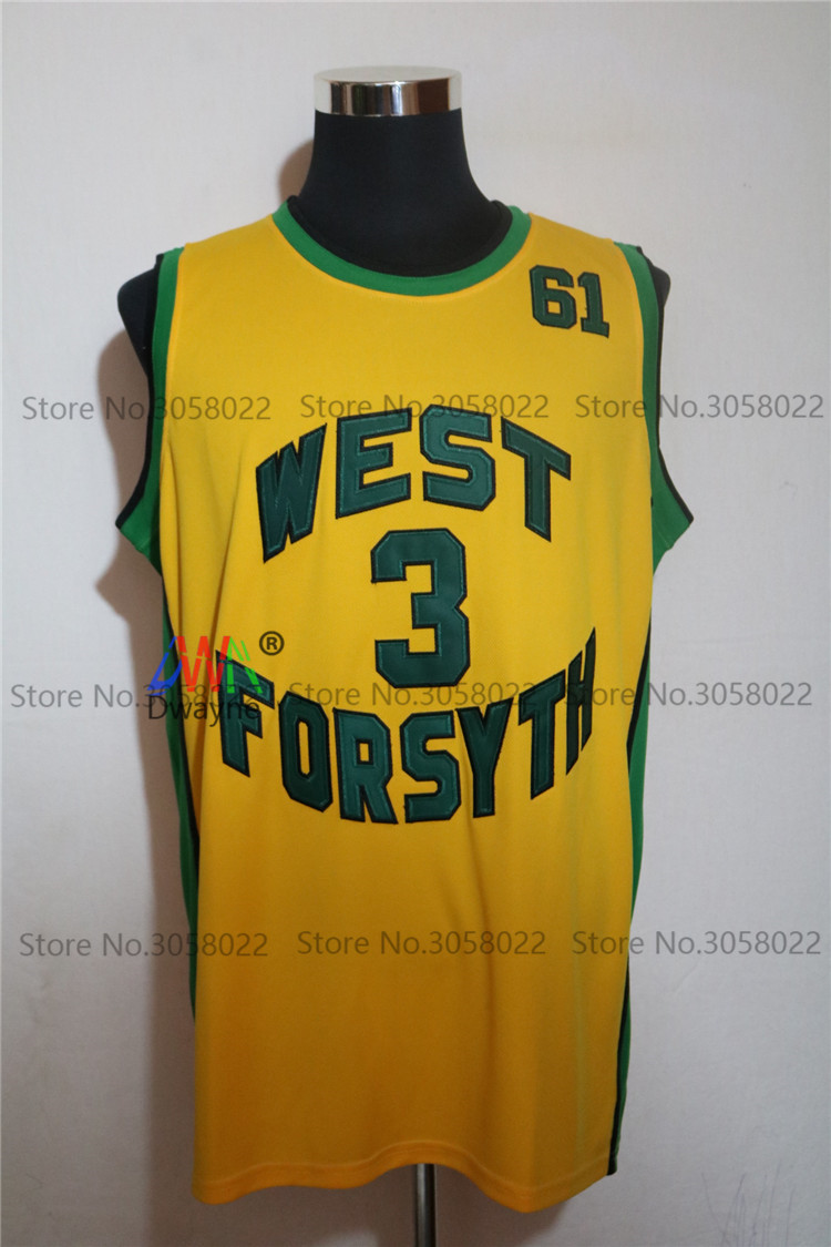 b19150fed ... 2017 for mens chris paul 3 west forsyth high school yellow basketball  jersey vintage throwback baske
