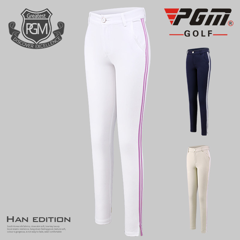 2018 PGM golf pants women's long trousers elastic Straight pants golf training apparel Breathable sport pants size XS~XL цена