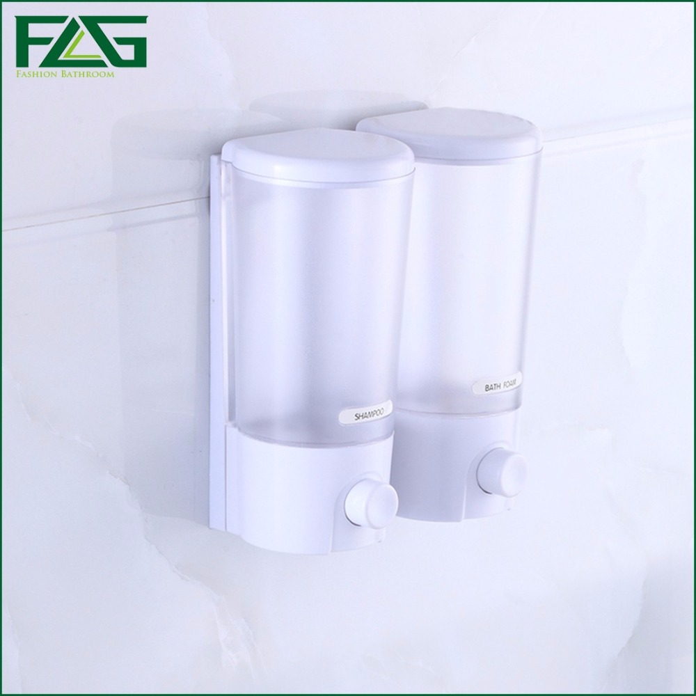 FLG 380*2ml/380*3ml Wall Mount Soap Sanitizer Shower Bath Shampoo ...