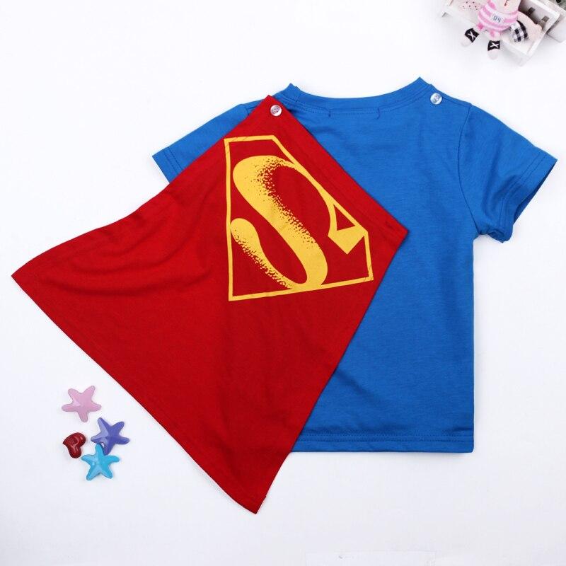 Retail Children S Clothes Superman Batman Cape T Shirt Summer Boy Cotton Short Sleeve T Shirt Free Shipping Summer Boys Summer Boys T Shirtst Shirt Boy Aliexpress