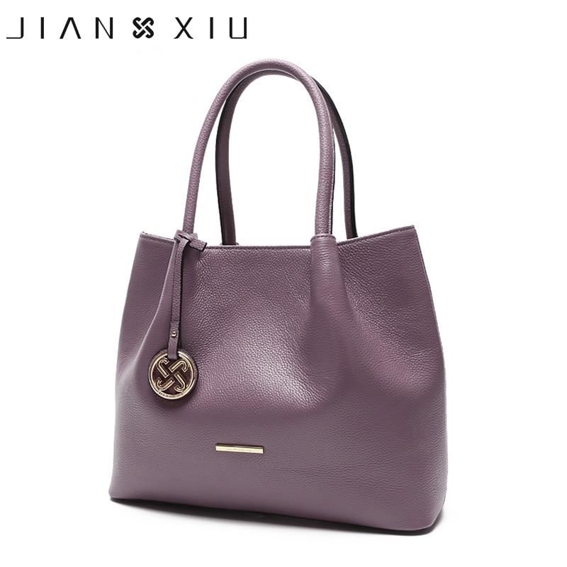 JIANXIU Brand Genuine Leather Handbag Luxury Handbags Women Bags Designer Female Metal Ornaments Big Tote 2018
