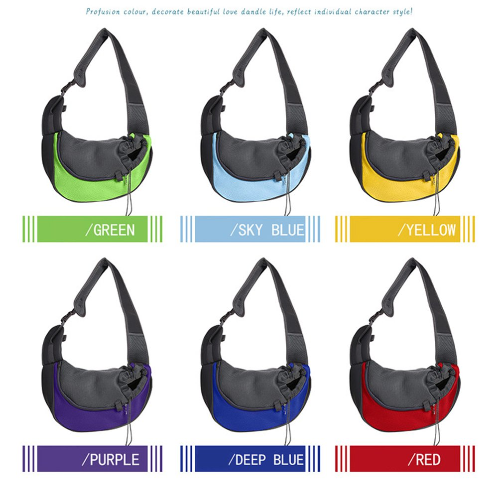 Pet Carrier Small Animal Cat Dog Carrying Bag Breathable Mesh Portable Travel Tote Shoulder Bag Sling Backpack Pet Supplies