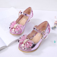 Girl Dancing Shoes Wedding And Party Shoes Princess Leather Shoes Children Girls Cut Outs Kids Glitter