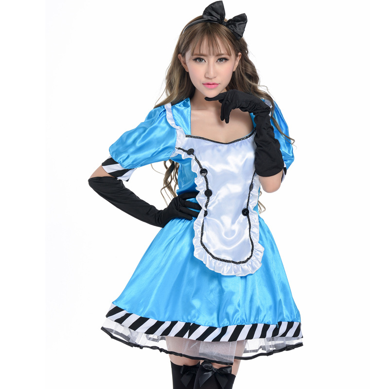 Halloween Alice Madness Returns Cosplay Costume Princess Dress Maid Dress Game Costume adult costume