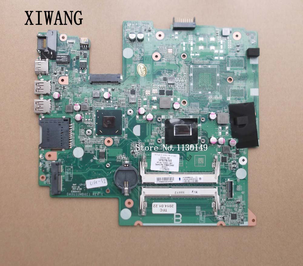 721214-501 Free shipping 721214-001 motherboard for HP Pavilion Sleekbook 14 14-B series motherboard with I3-2375M CPU free shipping 729843 501 729843 001 for hp pavilion 14 15 17 motherboard hm76 integrated i3 3110m dar62cmb6a0 100