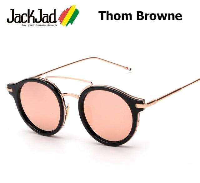 92564459be0 2016 New Fashion THOM BROWNE Brand S930 Round Style Sunglasses Women Men  Round Frame Design Sun Glasses UV400 Oculos De Sol