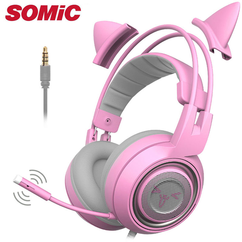 Gaming Headphone Headset Earphones With Mic Microphone For Mobile Phone Xbox One Computer Laptop Brand 3.5mm Original Somic 951 Bright Luster