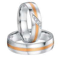Любой размер пользовательских роза Цвет Золотистый декор private Западной обручальные кольца обещание кольца наборы для обувь для мужчин и же