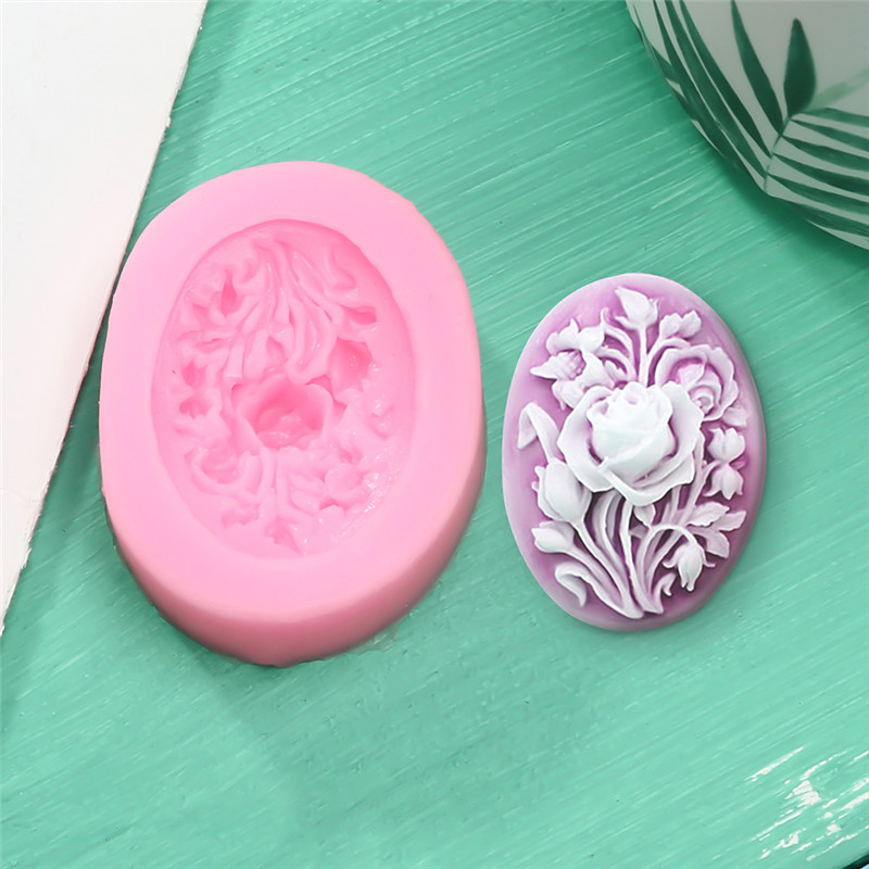 Rose Flowers Angel Silicone Soap Mold Multifunction Candle Molds Cake Candy Baking Mould DIY Handmade Craft