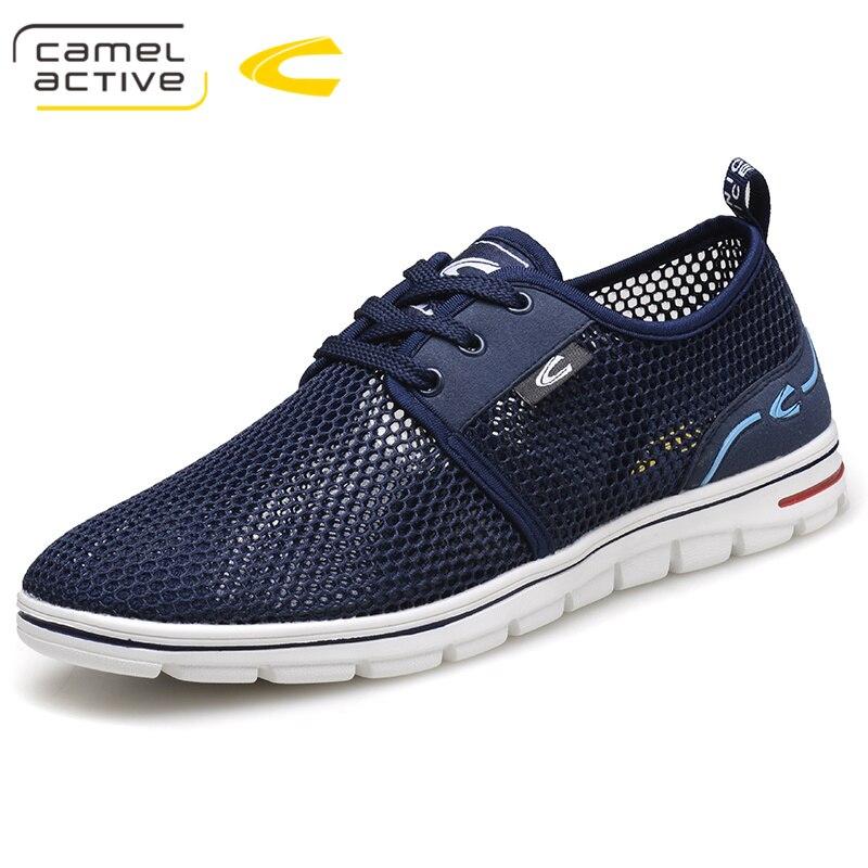 Camel Active nouveau 2018 été baskets chaussures décontractées respirantes mode confortable à lacets hommes baskets maille chaussures plates 18005